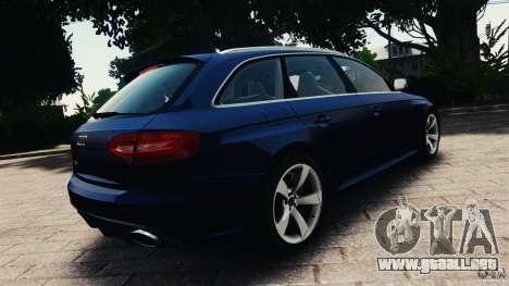 Audi RS4 Avant 2013 v2.0 para GTA 4 Vista posterior izquierda