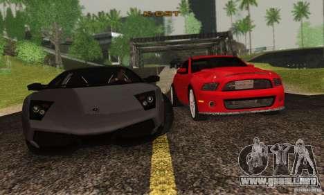 Lamborghini Murcielago LP 670-4 SV para visión interna GTA San Andreas