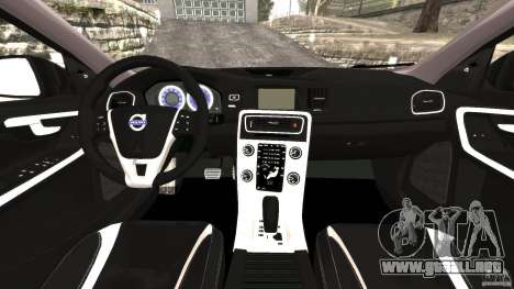 Volvo S60 R Design para GTA 4 vista hacia atrás