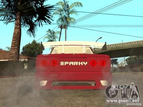 VAZ 2107 Chispita para GTA San Andreas vista posterior izquierda