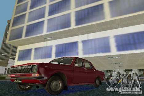 Volga GAZ 24 para GTA Vice City left