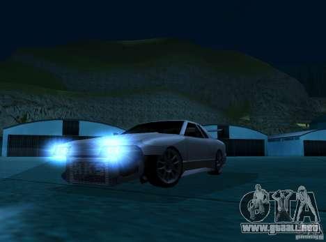 ELEGY TUNING MOD para GTA San Andreas vista hacia atrás
