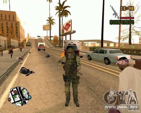 Ghost para GTA San Andreas quinta pantalla