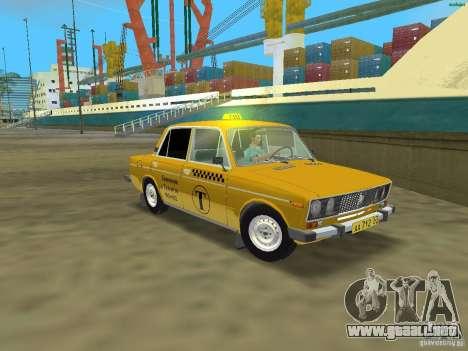 2106 VAZ Taxi v 2.0 para GTA Vice City left