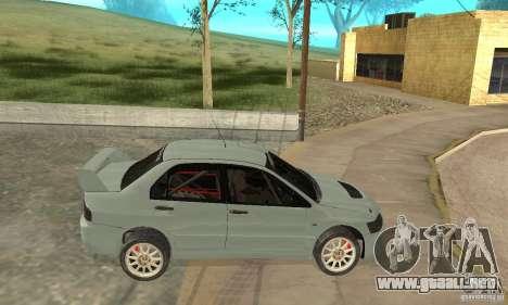 Mitsubishi Lancer Evolution IX para GTA San Andreas vista posterior izquierda