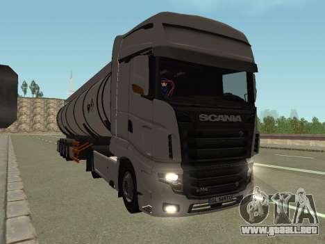 Scania R700 Euro 6 para GTA San Andreas vista posterior izquierda