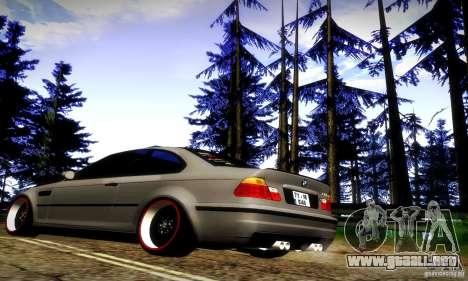 BMW M3 JDM Tuning para GTA San Andreas vista hacia atrás