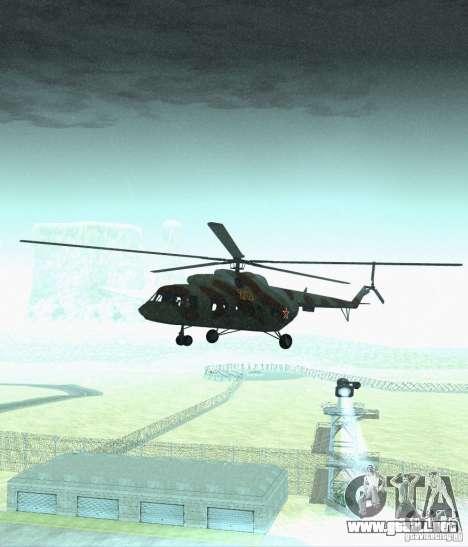 Militar MI-17 para GTA San Andreas vista hacia atrás