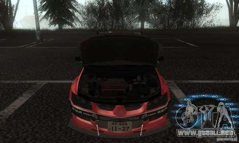 Mitsubishi Lancer IX APR para la visión correcta GTA San Andreas