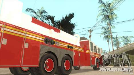 FDNY Seagrave Marauder II Tower Ladder para GTA San Andreas left