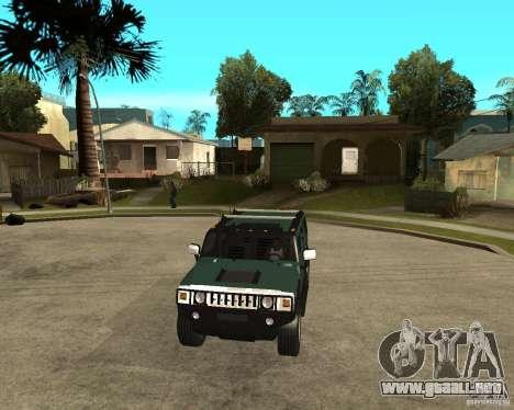 AMG H2 HUMMER SUV para GTA San Andreas vista hacia atrás