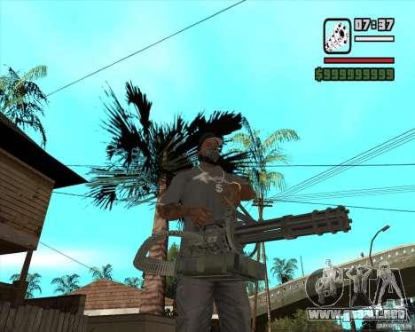 Hand Held M134 Minigun para GTA San Andreas segunda pantalla