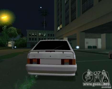 Ваз 2114 Extras para GTA San Andreas vista posterior izquierda