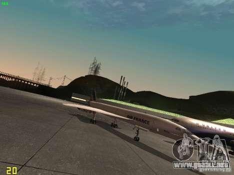 Aerospatiale-BAC Concorde Air France para GTA San Andreas vista posterior izquierda