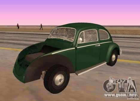 Volkswagen Beetle 1963 para la visión correcta GTA San Andreas