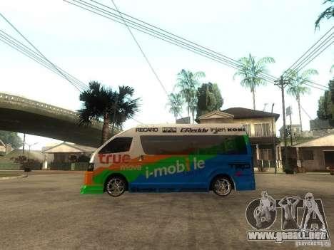 Toyota Commuter VIP Van para GTA San Andreas left