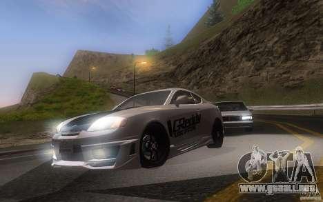Hyundai Tiburon V6 Coupe tuning 2003 para GTA San Andreas left