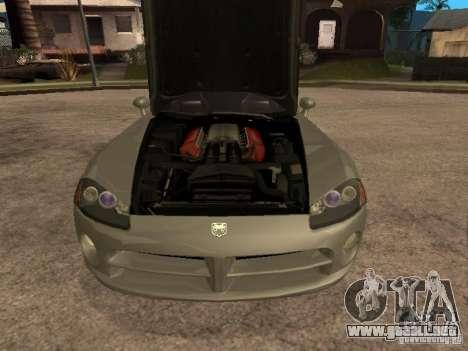 Dodge Viper Coupe 2008 para la visión correcta GTA San Andreas