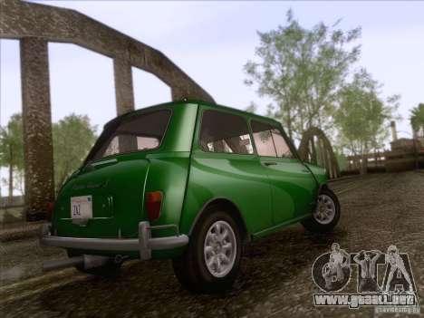 Austin Cooper S 1965 para GTA San Andreas vista hacia atrás