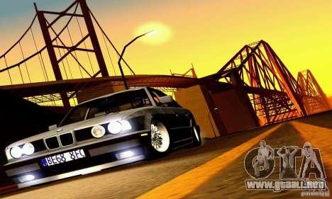 BMW E34 525i para la vista superior GTA San Andreas