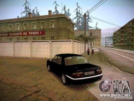 GAZ 31105 Volga S60 para GTA San Andreas vista posterior izquierda