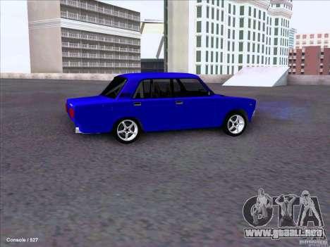 ВАЗ 2107 Drift para GTA San Andreas vista hacia atrás