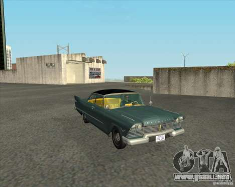 Plymouth Savoy 1957 para GTA San Andreas vista hacia atrás