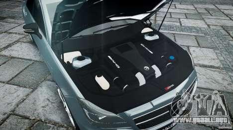 Mercedes Benz CLS 63 AMG 2012 para GTA 4 vista desde abajo