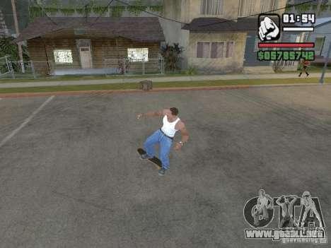 Skate para GTA SA para GTA San Andreas quinta pantalla