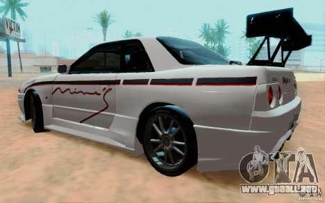 Nissan Skyline GT-R R32 1993 Tunable para GTA San Andreas left