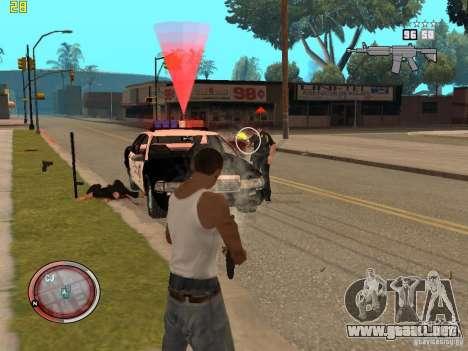 Además del HUD de GTA IV para GTA San Andreas sexta pantalla