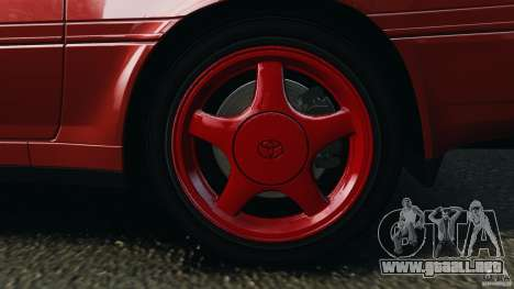 Toyota Supra 3.0 Turbo MK3 1992 v1.0 [EPM] para GTA 4 vista desde abajo