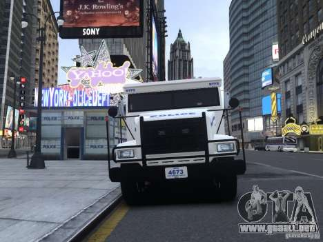 Enforcer Emergency Service NYPD para GTA 4 left