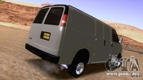 Chevrolet Savana 3500 Cargo Van para la visión correcta GTA San Andreas