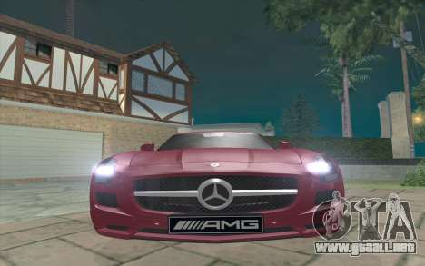 Mercedes-Benz SLS AMG 2011 V3.0 para GTA San Andreas left