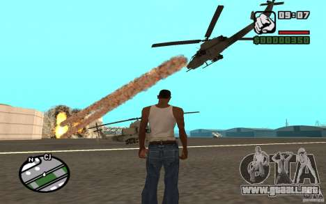 Apoyo aéreo cuando ataca. para GTA San Andreas segunda pantalla