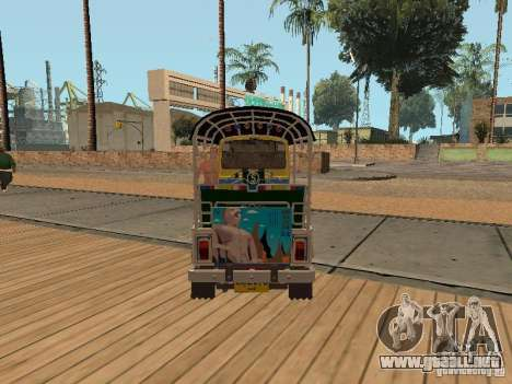 Tuk Tuk Thailand para GTA San Andreas vista posterior izquierda