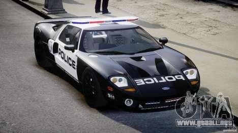Ford GT1000 Hennessey Police 2006 [EPM][ELS] para GTA 4 vista hacia atrás