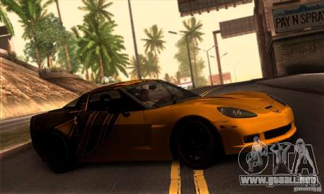 Chevrolet Corvette Z06 para la vista superior GTA San Andreas