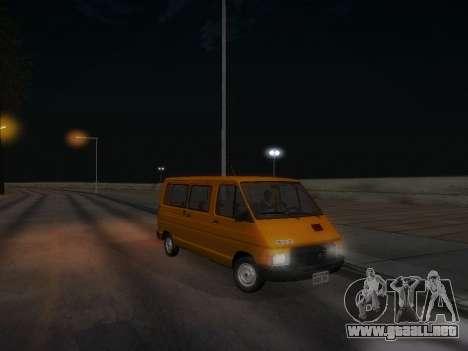 Renault Trafic T1000D Minibus para vista inferior GTA San Andreas