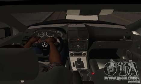 Mercedes-Benz C180 para GTA San Andreas vista hacia atrás