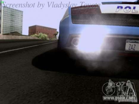 Lamborghini Gallardo LP560-4 Polizia para vista lateral GTA San Andreas