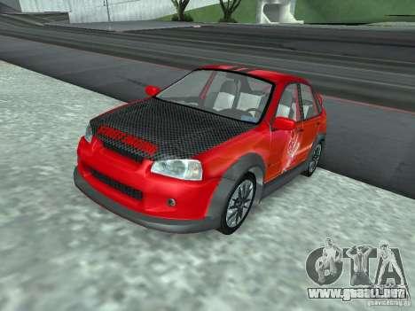 Kalina 1118 VAZ para vista inferior GTA San Andreas