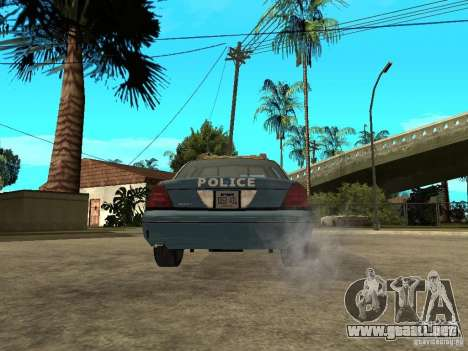 2003 Ford Crown Victoria Gotham City Police Unit para GTA San Andreas vista posterior izquierda