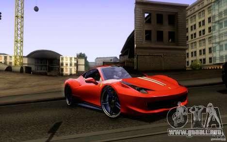Ferrari 458 Italia Final para el motor de GTA San Andreas
