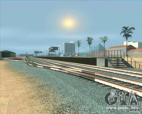 Las plataformas altas en las estaciones de tren para GTA San Andreas sexta pantalla