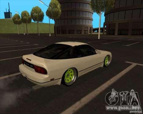 Nissan 180SX JDM para GTA San Andreas vista hacia atrás