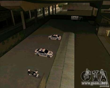 Priparkovanyj transporte v1.0 para GTA San Andreas quinta pantalla