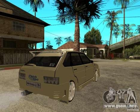 ВАЗ 2114 Mechenny para GTA San Andreas vista posterior izquierda