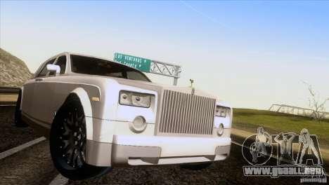 Rolls Royce Phantom Hamann para GTA San Andreas vista hacia atrás